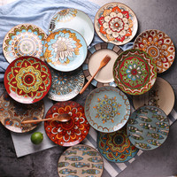 Creative personality hand painted ceramic plate West food plates dishes plate dish ceramic plate food plate -