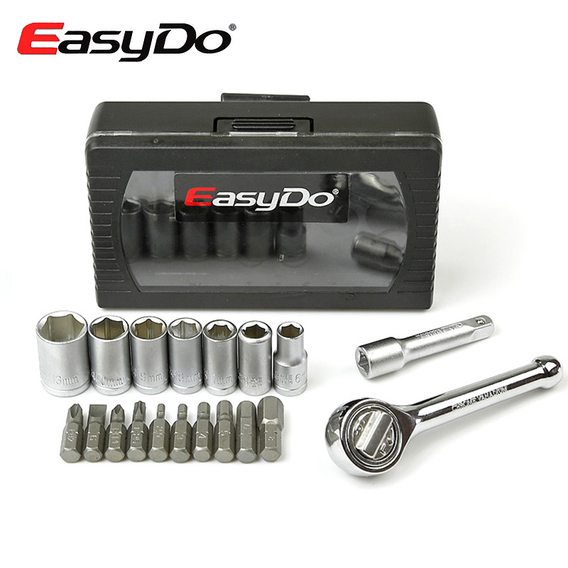 EasyDo Torque Bicycle Wrench Tools Kit Ferramenta 16 Functions 2.5/3/4/5/6/8mm Hex T25 Disc Screwdriver MTB Bike Repair Sets цена
