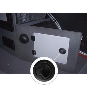 "Image 5 - HCSSZP 2 Pcs 2"" Round Black Flush Pull Slam Latch for RV Boat Marine Deck Hatch Door Replacement"