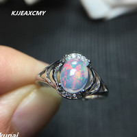 KJJEAXCMY Fine Jewelry Color Jewelry 925 Silver Inlay Natural Opal Ring Female Prisoners