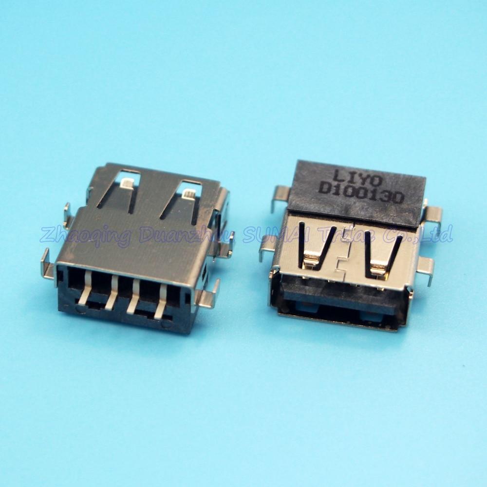 10pcs/lot Original New USB female jack connector 2.0 USB data Port for Laptop Acer HP DM3 DELL etc