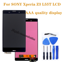 """5.2 """"AAA wyświetlacz dla SONY Xperia Z3 LCD + ekran dotykowy, a nie dla SONY Xperia Z3 L55T D6603 D6653 LCD części do naprawy telefonu komórkowego"""