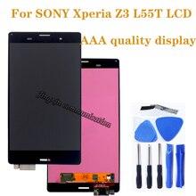 "5.2 ""AAA ソニーの xperia Z3 液晶 + タッチスクリーンなくソニーの Xperia Z3 L55T D6603 D6653 液晶携帯電話の修理部品"