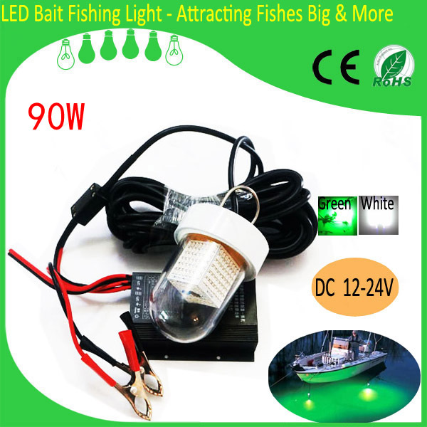 Cheap China Manufactory Hot Sale 12v Solar Fishing Lights 90W LED Fishing Lure  Squid Lure Lamp Underwater Fishing Lights