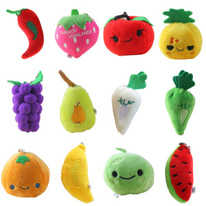 5cm-13cm Pineapple Mini Doll Pendant for baby cradle Let children know fruits and vegetables Best child Plush toys For Children(China)