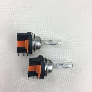 Галогенная лампа H15, 2 шт., 12 В, 15/55 Вт, прозрачная 4300K лампа для фар, стеклянная автомобильная лампа