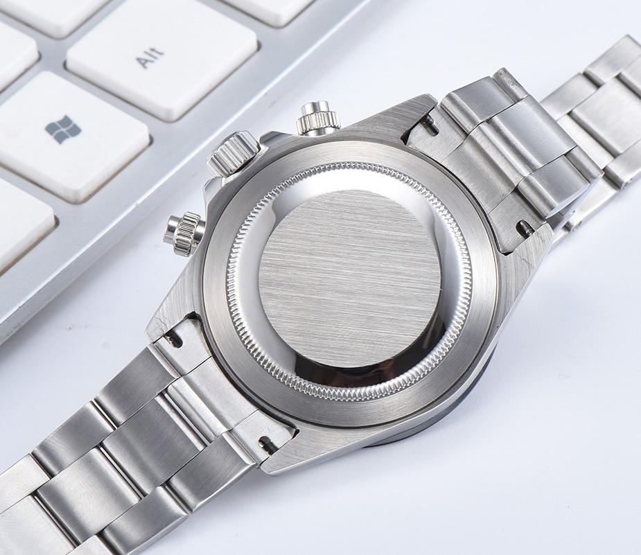 Parnis Quartz chronographe montre hommes Top marque de luxe pilote affaires étanche verre saphir montre pour hommes Relogio Masculino - 5