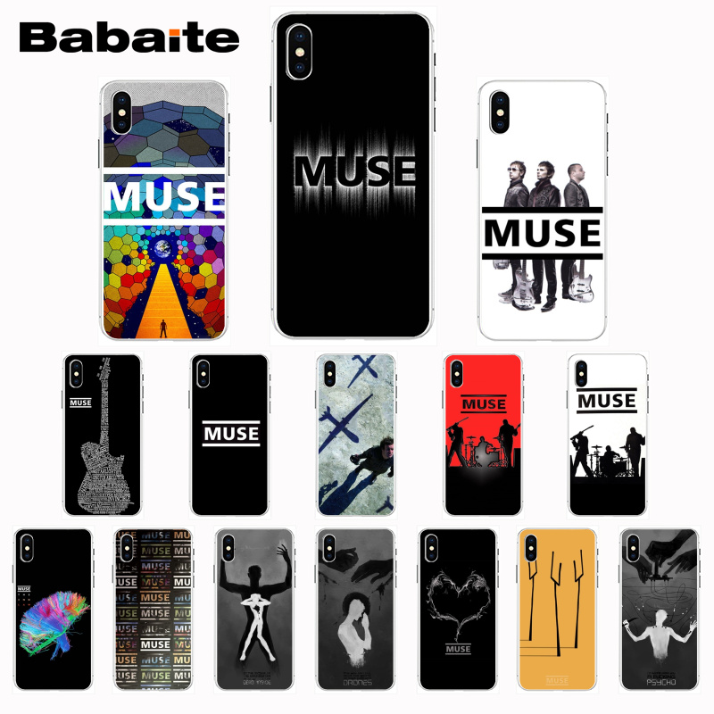 Babaite Muse Band Lyrics Music Songs Beautiful Phone Case for iPhone 8 7 6 6S Plus X Xs Xr XsMax 5 5s SE 5c 11 11pro 11promax image