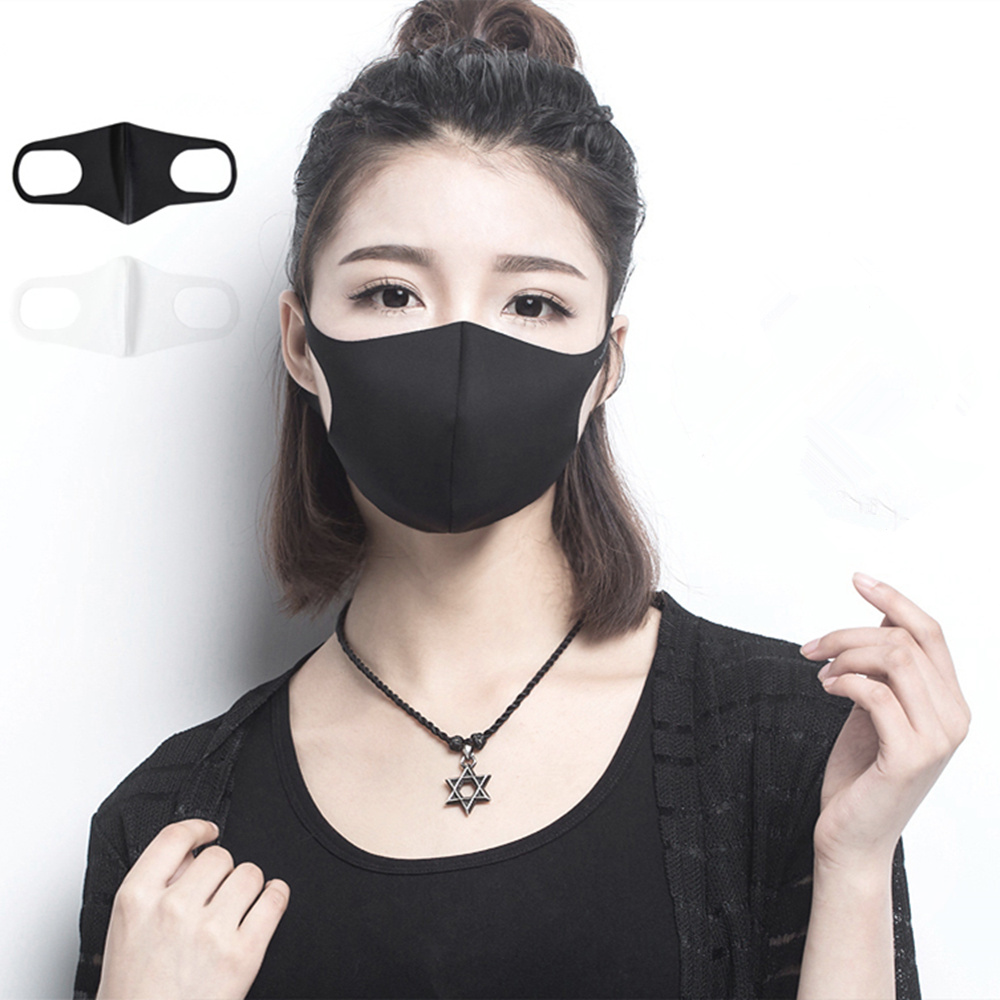 6Pcs/lot Fashion Dust Masks Men & Women Anti-fog Haze Pollen Pm2.5 Breathable Black & White Masks Can Be Repeated Cleaning