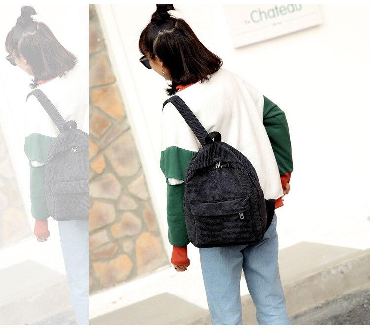 HTB10lmBbL1H3KVjSZFBq6zSMXXaE 2019 New Corduroy Women Backpack Pure Color Women Travel Bag Fashion Double Backpack Female Mochila Bagpack Pack Design