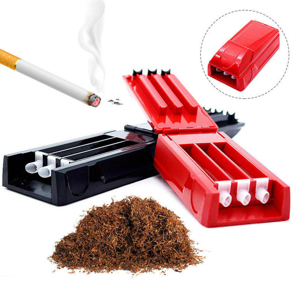 Manual Triple Cigarette Tube Injector Roller Maker Tobacco Rolling Machine Maker Smoking Weed Accessories