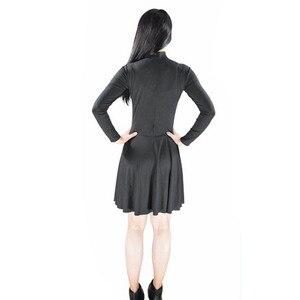 Ensnovo женские спандекс с длинным рукавом черепаха шеи Катание на коньках платья молния сзади балетная пачка черные танцевальные купальники