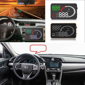 Car HUD Head Up Display For Honda Accord/Civic/CRV/Fit/JAZZ/HRV Vehicle HUD Safe Driving Screen Projector OBD II Connector