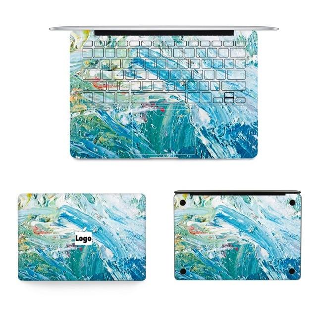 Luxury Oil Painting Skin Laptop Top Keyboard Bottom Vinyl Decal Full Sticker For Macbook