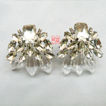 New 2014 Free shipping women fashion korean crystal earring statement high quality stud Earrings for women jewelry wholesale