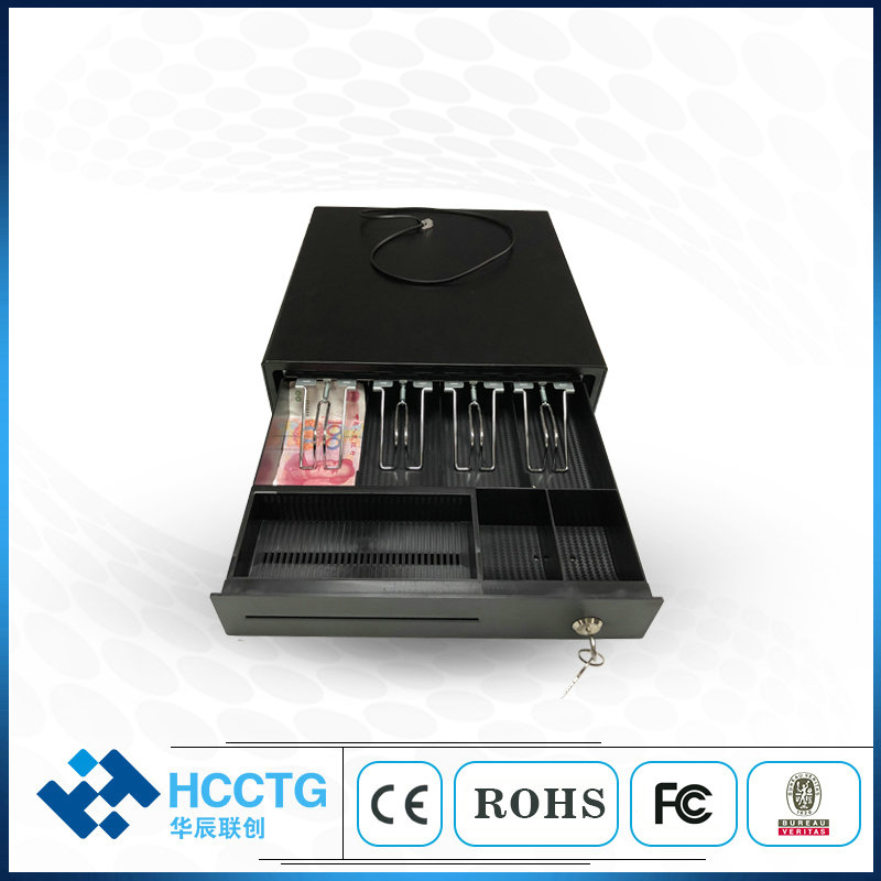 China RJ11 Automatic Supermarket Plastic POS Cash Drawer Box