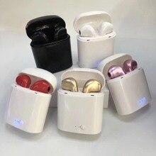 Bluetooth наушники беспроводные наушники I7 I7s TWS спортивные наушники гарнитура с микрофоном для смартфонов iPhone samsung Xiaomi huawei LG