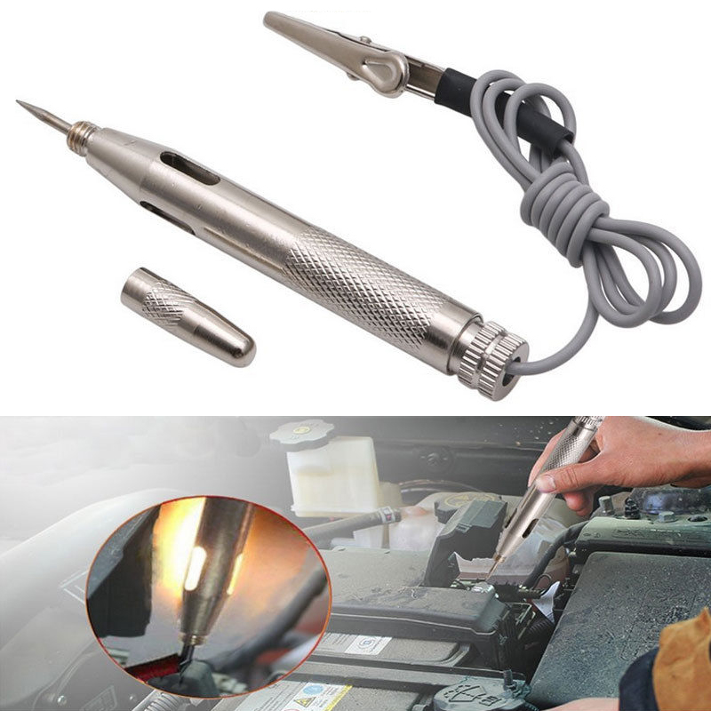DC 6V 12V 24V Copper Auto Car Light Circuit Tester Lamp Voltage Test Pen Detector Probe Light System Test Probe Lamp