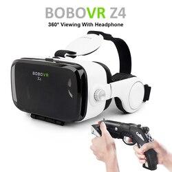 Venda quente! Google papelão bobovr z4 gafas realidade virtual bobo vr para 4.7-6.2 polegada smartphone + multi-função bluetooth gampad