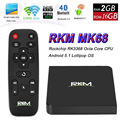 Original rikomagic rkm mk68 android 5.1 tv box rk3368 octa Core XBMC 2G/16G 802.11ac 2.4/5 GHz WiFi Gbit LAN 4 K H.265 Bluetooth