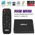 Original rikomagic rkm mk68 android 5.1 tv box rk3368 octa Core XBMC 2G/16G 802.11ac 2.4/5 GHz WiFi Gbit LAN 4 K H.265 Bluetooth