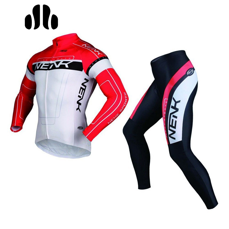 SOBIKE NENK Men's Cycling Bike Bicycle Cycle Long Sleeve Jersey Jacket & Tights Pants/Shorts & Suits Sets Cooree Bike Equipemts winter men outdoor running jacket suits cycling suits long sleeve jacket tights pants sport wear sets