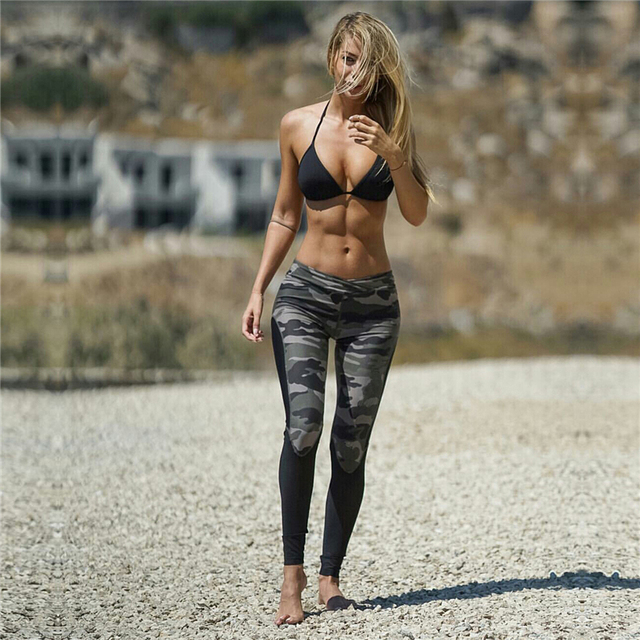 2017 Camouflage patchwork women Leggings fitness legging long pants slim and fashion female leggings