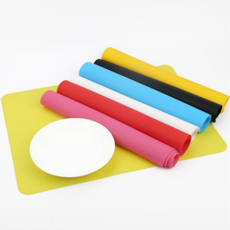 40*30CM Silicone Baking Mat Non Stick Pan Liner Placemat Table Protector Kitchen Pastry Liner Baking Bakeware Mat For 6 Color