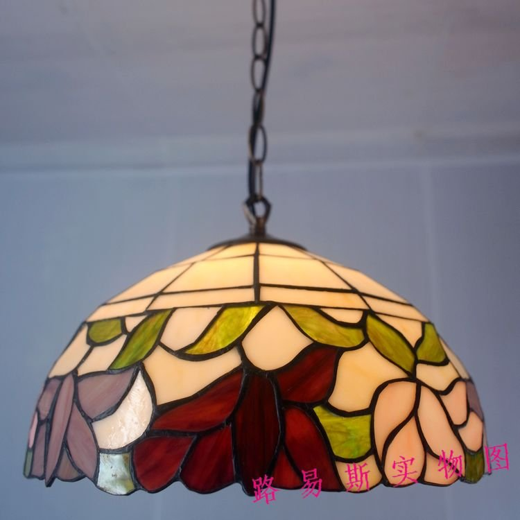 12 Inch Tiffany Lamps Kitchen Dining Room Lighting Continental Antique Gl Chandelier Nostalgic Art Gallery In Pendant Lights From