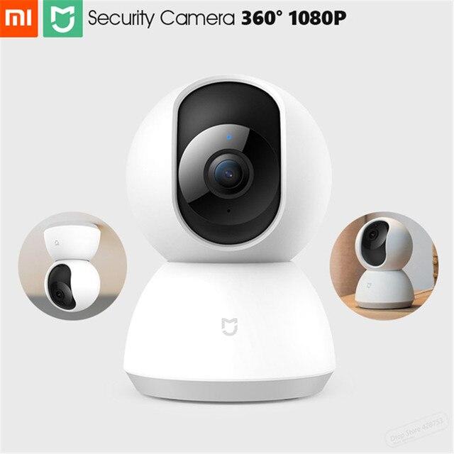 كاميرا حماية منزلية ذكية أصلية من شاومي Mi Mijia كاميرا 1080P عالية الدقة 360 درجة رؤية ليلية كاميرا ويب IP واي فاي للتحكم في تطبيق MI Home
