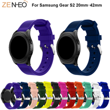 Breathable watchband Silicone strap For Samsung Gear S2 Watch 20mm straps Replacement wristband For Samsung Gear S2 Accessories все цены
