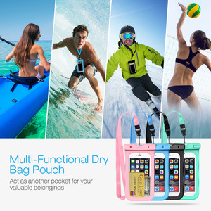 Image 3 - 4pcs Mpow PA132 IPX8 Waterproof Phone Case Bag Pouch Universal For 6.5 inch Cell Phones Home Button Cutout Take Photo Underwater