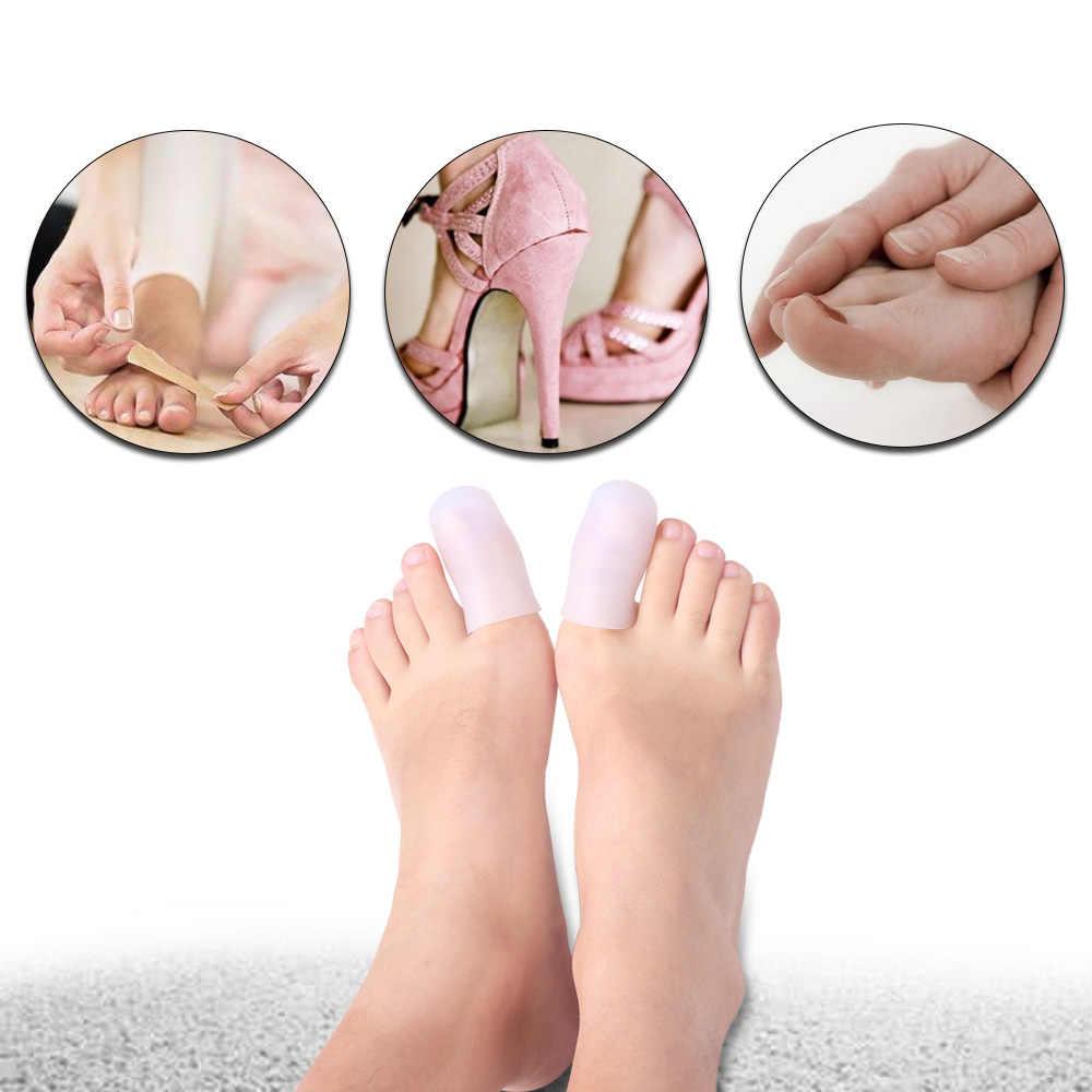 1 cặp Silicone Bảo Vệ Bìa Toe Đệm Chân Miếng Đệm Bảo Vệ Bảo Vệ Múa Ba Lê Giày Cao HeelsFeet Đau Chân