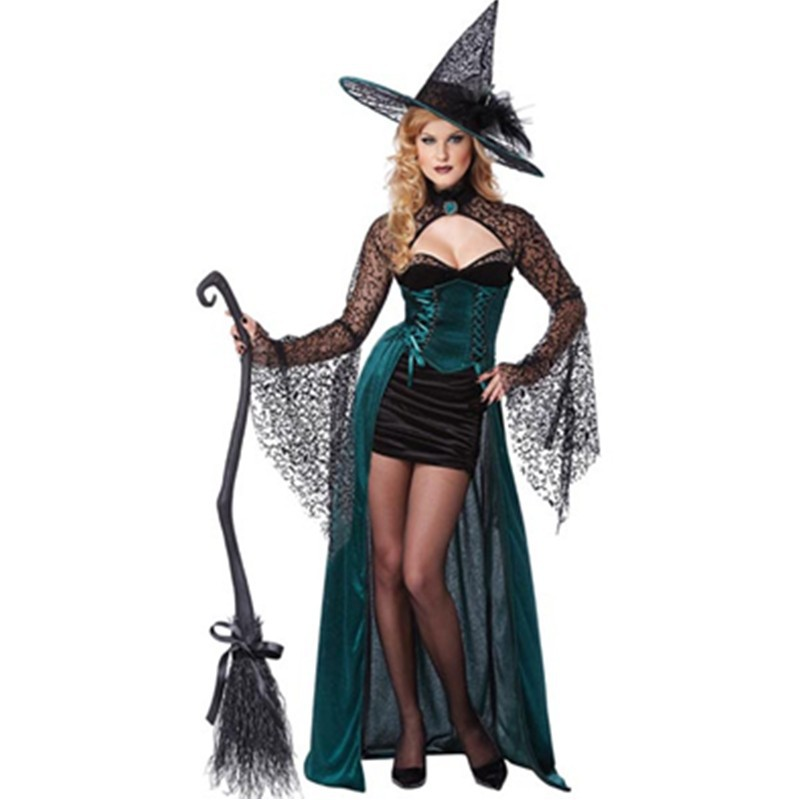 Absolutely Stunning High Quality Batwing Black Sleeves Bolero Blue Overskirt Fancy Dress Outfit Halloween Witch Costume L1045 L1045 (5) 800x800