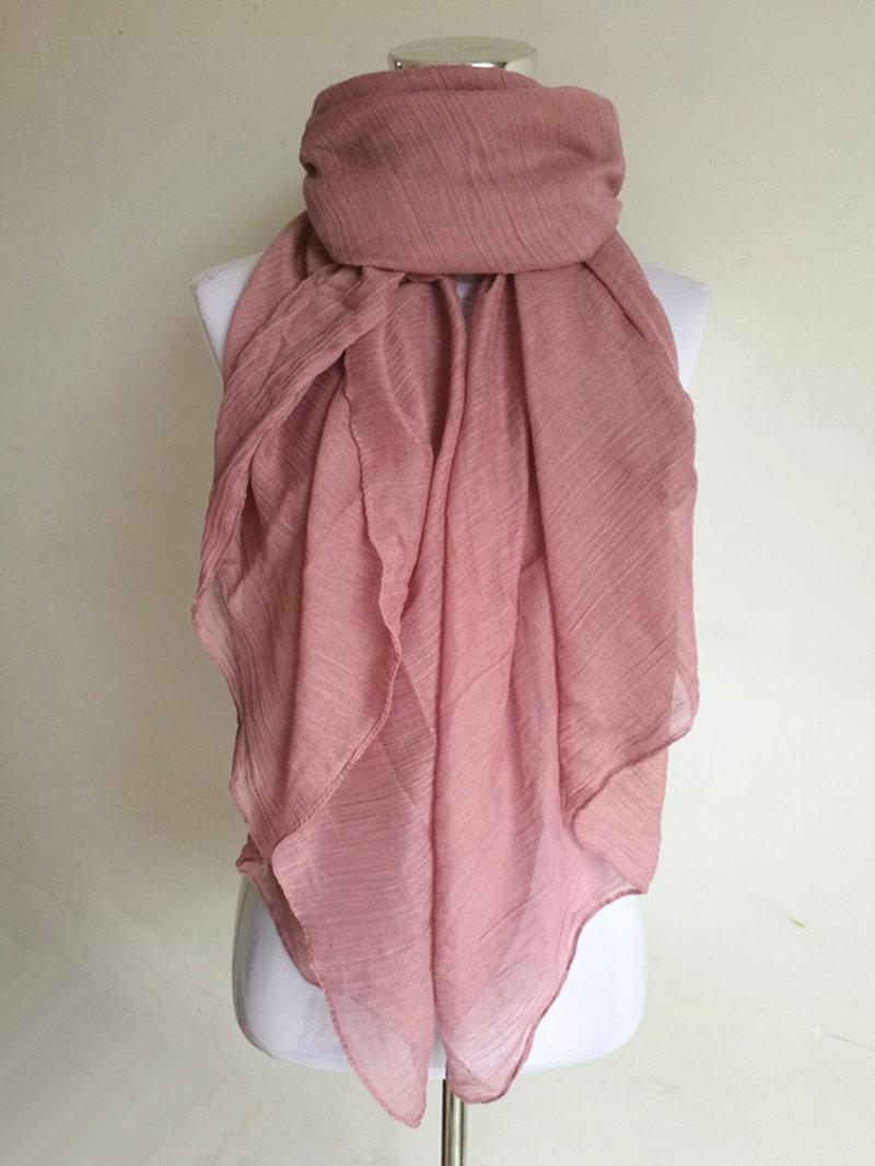 nueva moda colores bufanda de las mujeres de la vendimia de las seoras slido