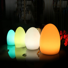 Remote Control Waterproof Egg Shape RGB LED Night Lights Rechargeable Indoor Outdoor Home Garden Bar KTV Dining Table Lamp led night lights egg lamp christmas decor rgb color change home bar furniture set d14 h19cm free shipping 20pcs lot