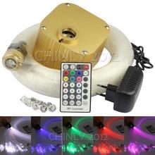 CREE chip 16W RGBW twinkle 28key RF remote  LED Fiber Optic Star Ceiling Lights Kit 4m(0.75+1.0+1.5mm) optical fiber+Crystal