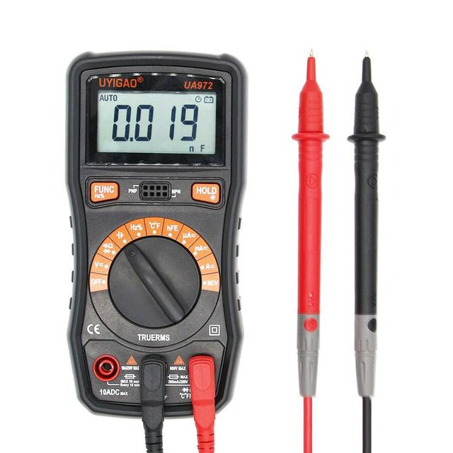 High quality UA972 Mini LCD Digital Multimeter DC AC Voltage Current  Resistance Capacitance Frequency Temperature Measurement-in Multimeters  from