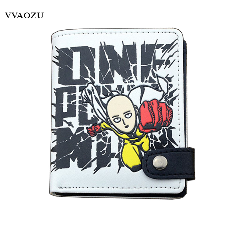 New Arrival One Punch Man Saitama Sensei PU Anime Cosplay Wallet With Card Holder Unisex Purses Money Bag for Students anime fairy tail wallet cosplay school students money bag children card holder case portefeuille homme purse wallets