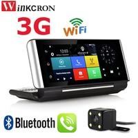 7 Inch 3G WIFI Android GPS Navigation Bluetooth 4 0 Phone Call DVR Dual Lens FHD