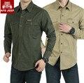 Бренд мужской рубашки AFS JEEP 2016 новый Осень повседневная рубашка Военная Длинным рукавом 100% Хлопок Досуг