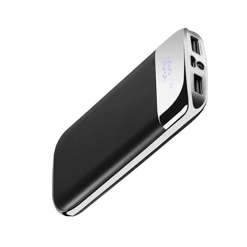 30000 мАч Внешний аккумулятор PoverBank 2 USB светодиодный Банк питания портативное зарядное устройство для мобильного телефона для Xiaomi Mi iphone 7 8 huawei
