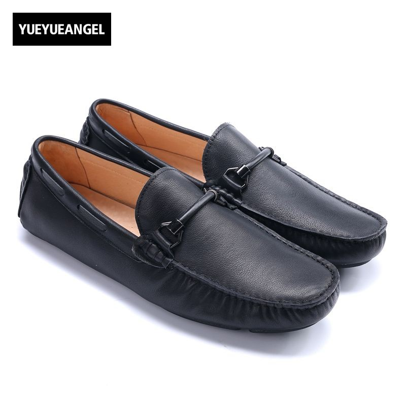 Retro New Fashion Slip On Mens Genuine Leather Casual Shoes Male Footwear Brand High Quality British Sapato Masculino Couro slip on men casual shoes male sandal new fashion genuine leather low heel high quality brand korean style thick bottom plus size