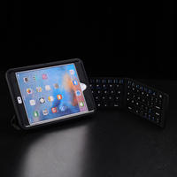 Black Portable Foldable Bluetooth Keyboard Compatible for iPhone X 8 7 6s Plus iPad WIF66
