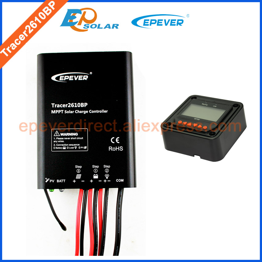 10A MPPT Tracer2610BP New series EPEVER Solar regulator high quality 12V/24V Battery auto charger work MT50 remote Meter 12v 24v auto work mppt solar charging regulator epever charger tracer1215bn with white mt50 remote meter 10a 10amp