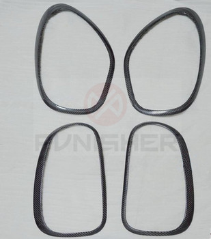 Add on style Carbon Fiber Head Light Rear Light Eyebrow for Mini Countryman  R60 2010-2014