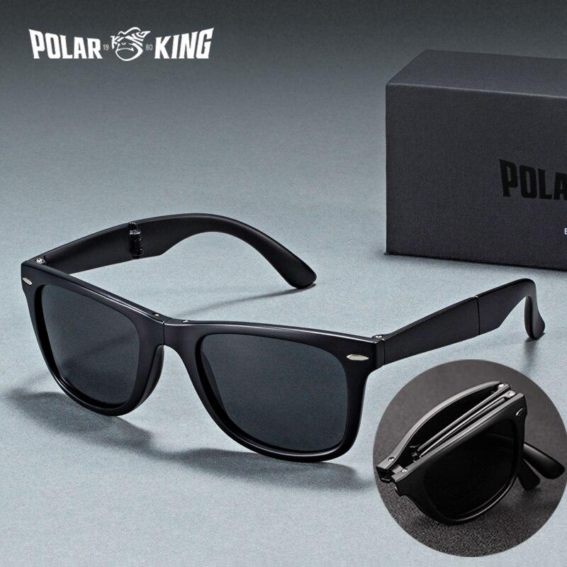 POLARKING marque Designer polarisé pliant hommes lunettes de soleil pour voyager Oculos de sol hommes conduite lunettes de soleil nuances lunettes