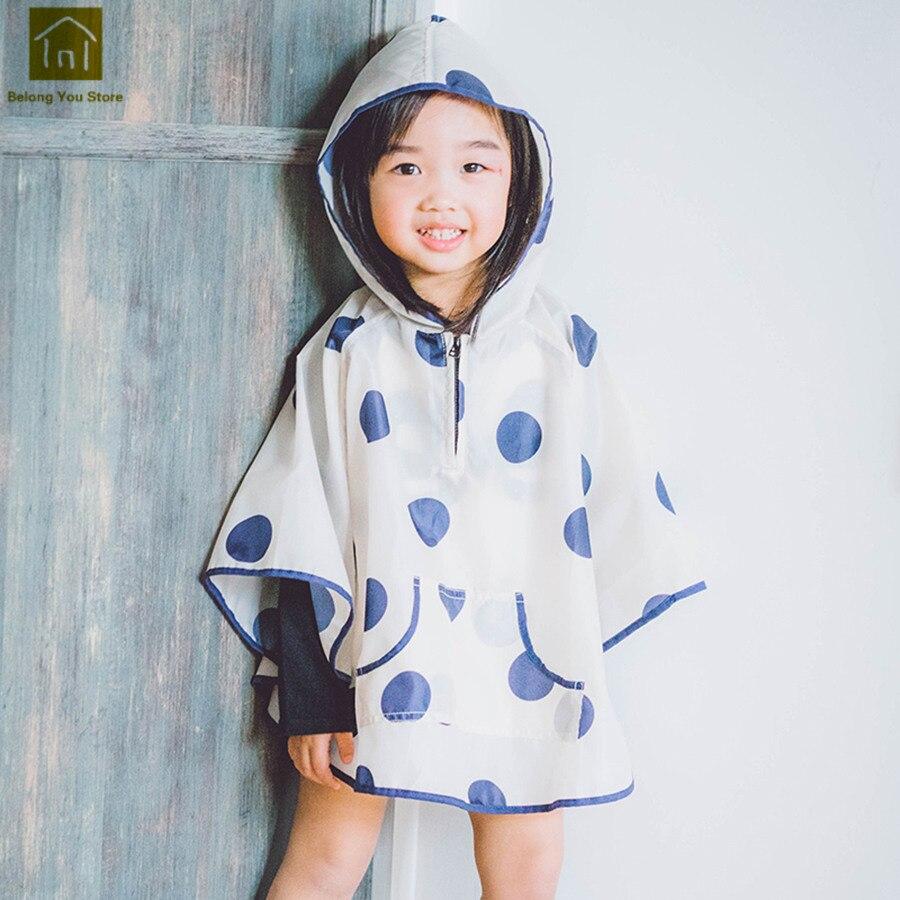 Manteau de pluie extérieur à pois randonnée enfant en bas âge fille imperméable enfants imperméable bébé Poncho de pluie imperméable enfant housse de pluie QKR246