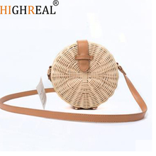 New Summer Round Rattan Handmade Bag Fashion Leisure Straw Bag High-quality Weaving Shoulder Crossbody Knitting Beach Bag