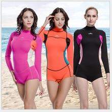 SBART 2mm neoprene wetsuit diving swimming suit women surf clothing uv swimwear swimsuit one piece sport